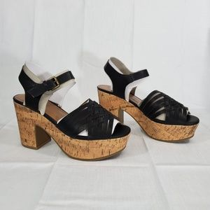 Indigo Rd. Women's Bona Heeled Sandal, Blk, 8